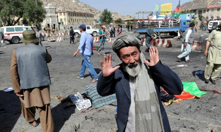 আফগানিস্তানে আত্মঘাতী বোমা হামলায় নিহতের সংখ্যা বেড়ে ৬৮